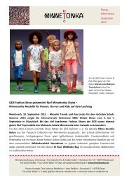 Presse- Information September 2012 GDS Fashion ... - Minnetonka