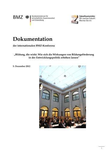 """Dokumentation - """"Bildung, die wirkt"""" - Gtz - GIZ"""