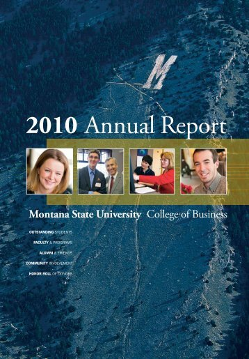 2010 Annual Report - Montana State University