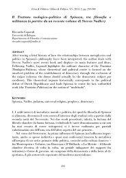 Il Trattato teologico-politico di Spinoza, tra filosofia e militanza (a ...