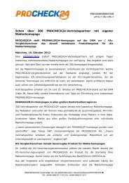 Allfinanzportal MoneyWorld launcht neuartigen - procheck24.de