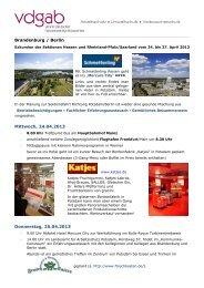 Programm Exkursion 2013 - VDGAB