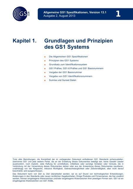 Grundlagen und Prinzipien des GS1 Systems