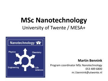 MSc Nanotechnology