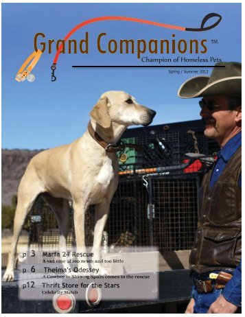 Spring 2013 Newsletter - Grand Companions Humane Society