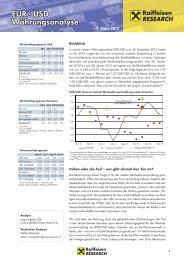 EUR - USD Währungsanalyse
