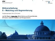 Bildverarbeitung 8 – Matching und Segmentierung - IGP - ETH Zürich