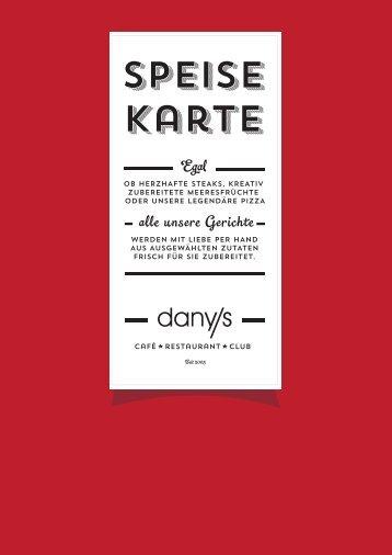 Speisekarte - Danys Restaurant Neu-Ulm