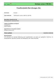 Fossilfundstelle Rain (Zunzgen, BL) - admin.ch