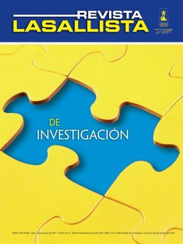 Revista LASALLISTA de Investigación - Corporación Universitaria ...