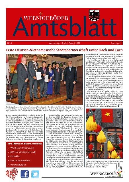 Amtsblatt Stadt Wernigerode 08 - 2013 (6.00 MB)