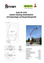 Gold Lift 1470 Gelenk-Teleskop-Arbeitsbühne mit Endausleger auf ...