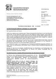 Rundschreiben Nr. 08/2008 - Kassenärztliche Vereinigung ...