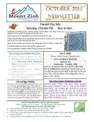 October, 2013 - Mount Zion United Methodist Church