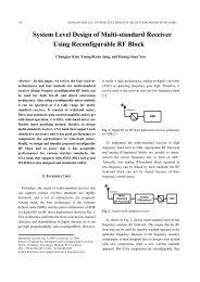 System Level Design of Multi-standard Receiver Using ... - JSTS