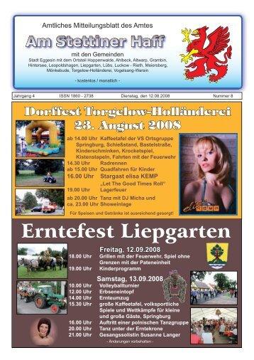 Veranstaltungstipps - Amt am Stettiner Haff