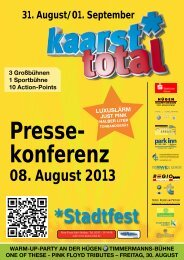 Pressemappe 2013 - Kaarst Total