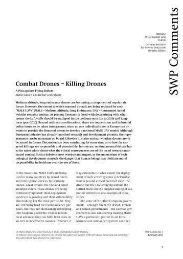 Combat Drones – Killing Drones