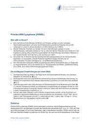 Primäre ZNS-Lymphome (PZNSL)