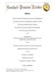 Buffet 1 - Gasthaus Pension Kloiber