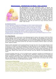 Babymassage – Wohlbefinden für Mutter, Vater ... - Chris Wellness