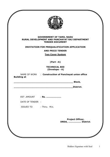 tender document for construction pdf