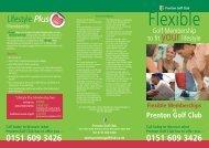 Flexible Memberships - Prenton Golf Club