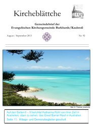 August-September 2013.pdf - Ev. Kirchengemeinde Burkhards ...