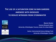 The use of saturation zones in rain gardens amended with biosolids ...