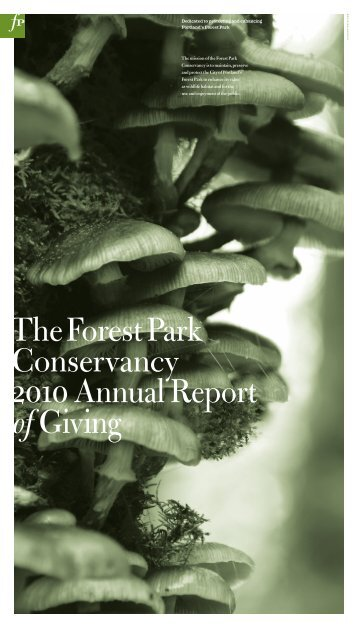 the2010 Willamette Week Give!Guide - The Forest Park Conservancy