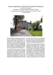 Schloss Heiligenberg, ein Denkmal der deutschen Renaissance