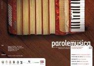 Parole e Musica 2013 - Soprintendenza per i Beni Archeologici dell ...