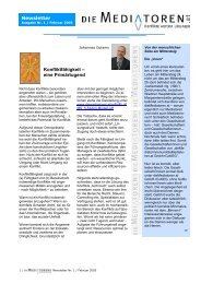 dieMediatoren.at Newsletter Ausgabe Nr. 1 / Februar 2005