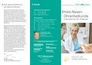 Hals-Nasen- Ohrenheilkunde - MVZ Johanneum