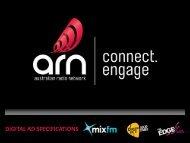 DIGITAL AD SPECIFICATIONS - Australian Radio Network