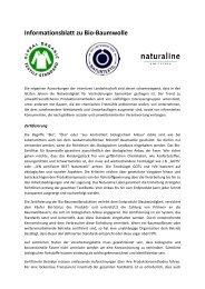 Informationsblatt zu Bio-Baumwolle - otto garne