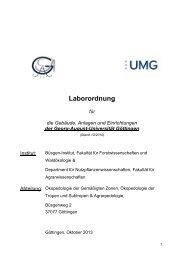 Laborordnung - wwwuser - GWDG