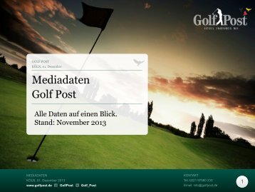 Mediadaten November 2013 - Golf Post