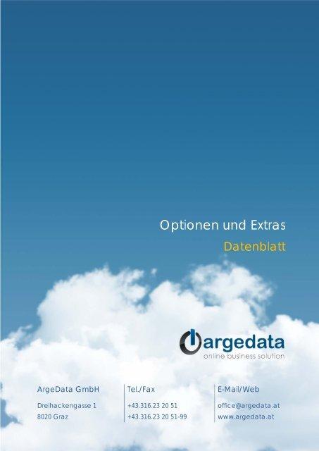 Datenblatt Optionen und Extras (PDF) - bei der ArgeData GmbH