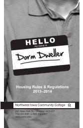 Dorm Dweller - Northwest Iowa Community College