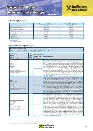 Raiffeisen Zentralbank Research