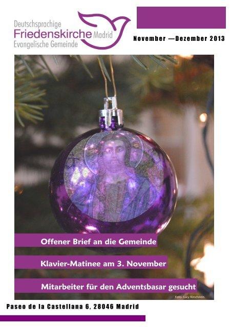 Aktueller Gemeindebrief (Nov & Dez) - in der deutschsprachigen ...