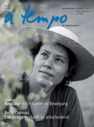 NeuLand – Ein Garten in Bewegung Betül Durmaz Die ... - a tempo