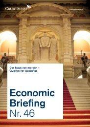 Economic Briefing Nr. 46 - Der Staat von morgen ... - oekonomik.ch