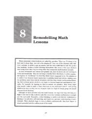 Remodelling Math Lessons - The Critical Thinking Community