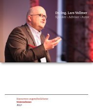 Speakerprofil zum Download - Lars Vollmer