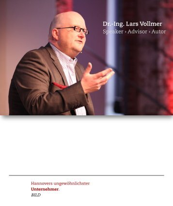Speakerprofil zum Download - Lars Vollmer
