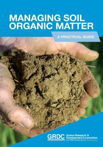 Dynamic of chromophoric dissolved organic matter cdom for Soil organic matter pdf