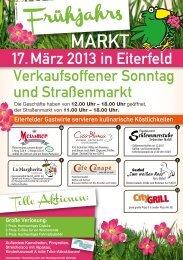 17. März 2013 in Eiterfeld - Gewerbeverein Eiterfeld