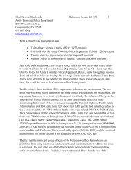 Chief Kent A. Shuebrook Reference: Senate Bill 554 1 Amity ...